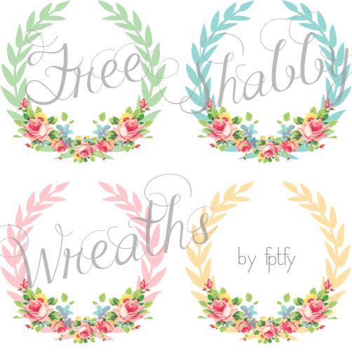 Free Shabby Chic Digital Wreaths! by FPTFY