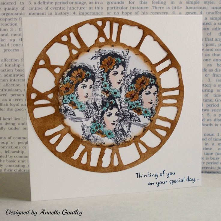 Using the free stamp from Craft Stamper