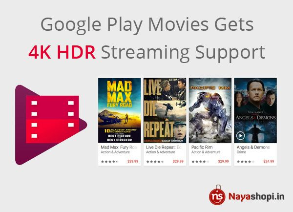 #googlePlay #Movies #4KHDR #StreamingSupport #technews