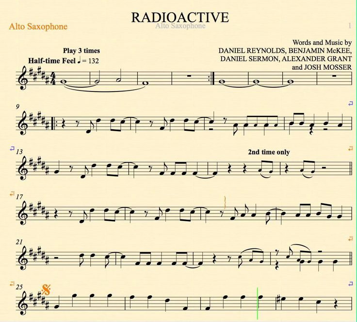 1000 Images About Sheet Music For Kids On Pinterest: Alto Saxophone Sheet Music Free Radioactive