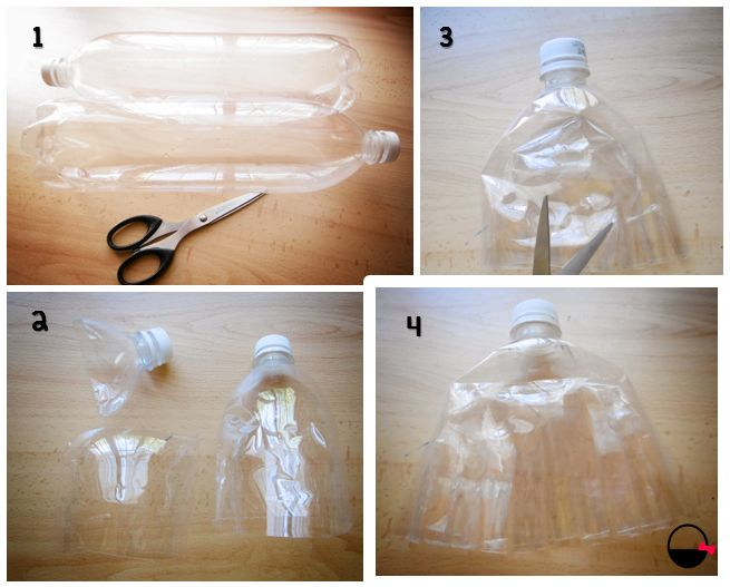 Escobilla DIY con botellas de plástico recicladas http://baskiuts.wordpress.com