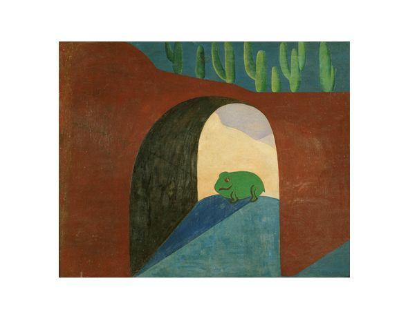 Tarsila do Amaral   Antropofágica 1928 - 1930 - O SAPO, 1928, óleo sobre tela, (P105), Museu de Arte Brasileira – FAAP, SP, SP