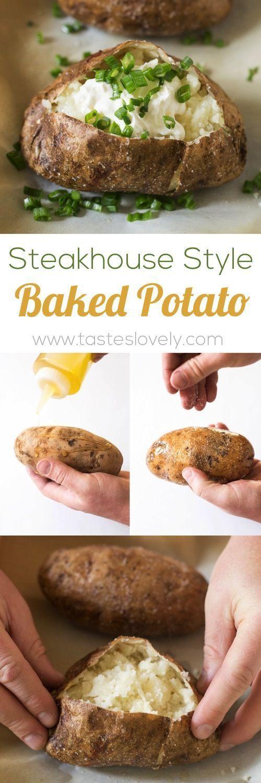Steakhouse Style Baked Potato - the BEST baked potatoes I've ever had! (vegetarian, gluten free)