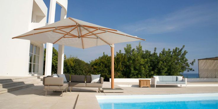 The Napoli is a range of premium quality parasols made from FSC Eucalyptus. This collection includes an impresive 4mtr square cantilever parasol to cover large seating or dining groups.