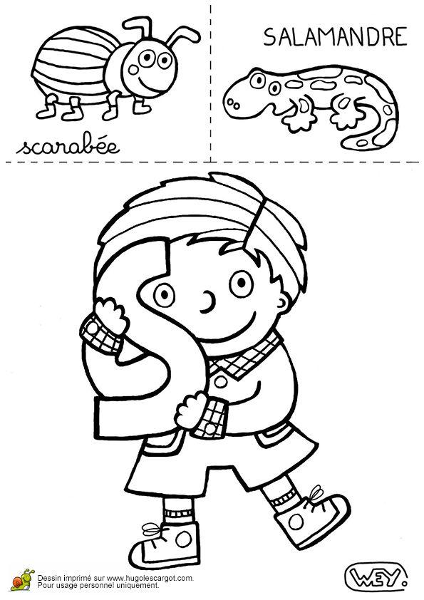 Lettre S Scarabee Salamandre, page 19 sur 26 sur HugoLescargot.com