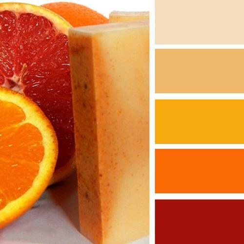 Modern interior colors, orange color schemes Warm orange color scheme with beige