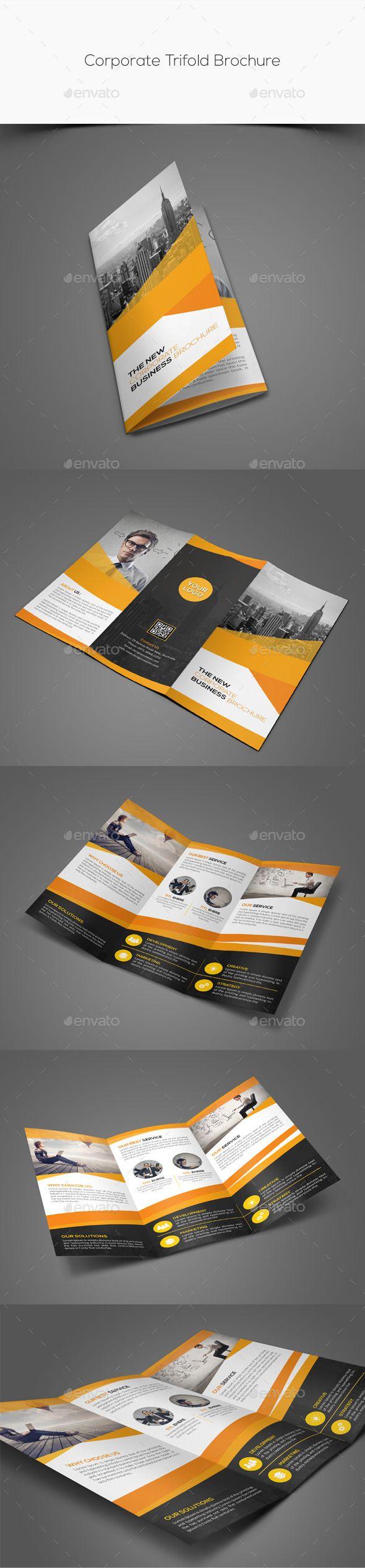 Corporate Trifold Brochure Template #brochure Download: http://graphicriver.net/item/corporate-trifold-brochure/11554073?ref=ksioks