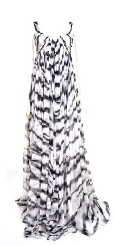 ALEXANDER-McQUEEN-S-S-2012-WHITE-TIGER-CHIFFON-GOWN-DRESS-UK-6-US-4-IT-38