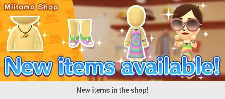Miitomo - content update for August 28 2017   Even more items are available in Miitomo Shop so be sure to check those out today!  from GoNintendo Video Games