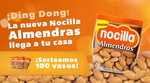 Abre la puerta de tu casa a la nueva Nocilla Almendras y ¡gana uno de los 100 vasos que sorteamos!