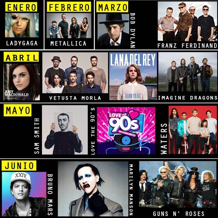 #Conciertos2018 AGENDA MUSICAL 2018: SÚPER CONCIERTOS EN ESPAÑA, ¡que no te puedes perder este año!  #musica #music #brunomars #festival #agenda2018 #conciertos #españa #spain #ocio #madrid #barcelona