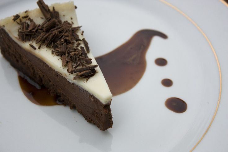 Chocolate Cheesecake with Nutella Mocha Affogato. literally crying this looks so good