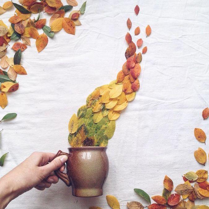 Чайные композиции с высушенными цветами и листьями