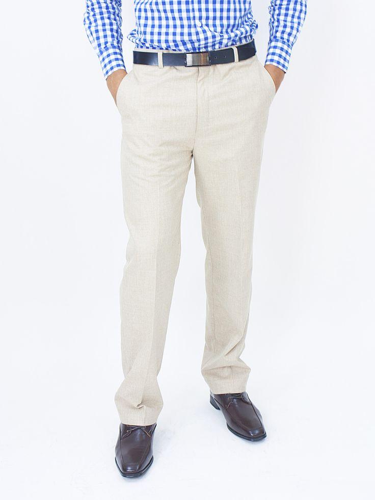 Slim Fit Dress Pant - Beige