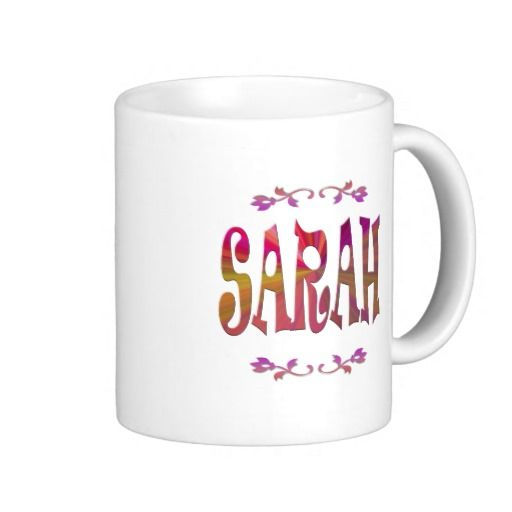 A #retro #mug embellished with the name #Sarah. Did you know Sara means #Princess ?  #coffee #tea