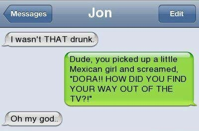 I wasnt that drunk