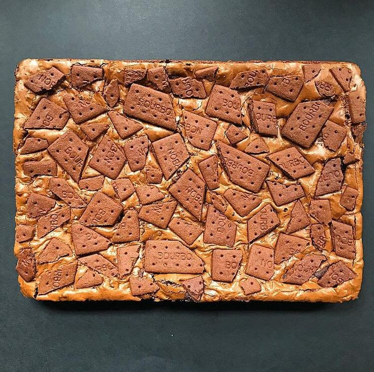 [Homemade] Bourbon Biscuit Brownies food Bourbon
