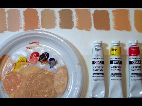 FIFTY SHADES OF...SKIN - How to mix flesh tones by ART Tv - YouTube