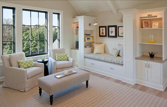 114 best images about window seat built ins on pinterest Built in reading nook
