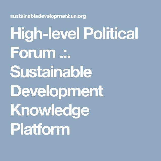 High-level Political Forum .:. Sustainable Development Knowledge Platform