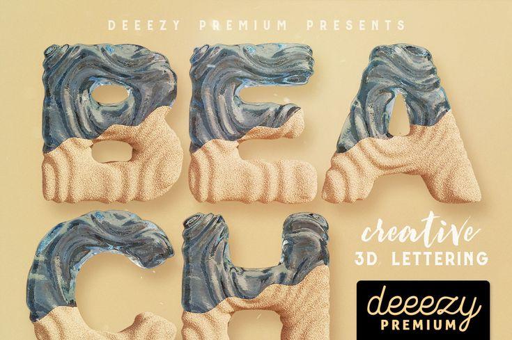 Beach-3D-lettering-Deeezy-1