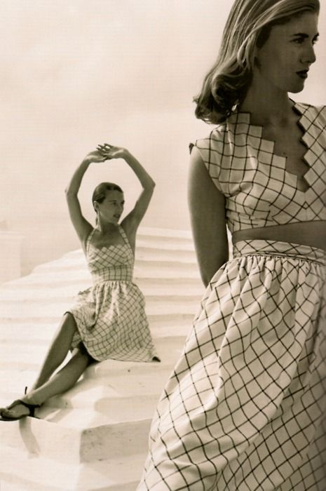 Summer dresses by Claire McCardell, 1946.