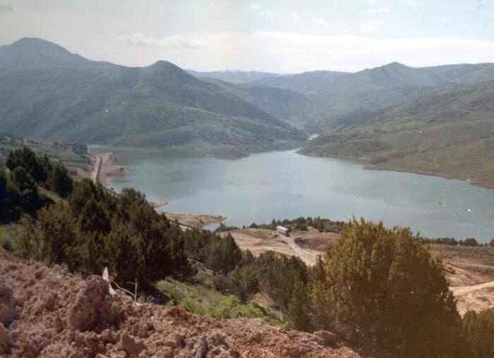 Thistle Utah Landslide 1983 The Town Of Thistle Under