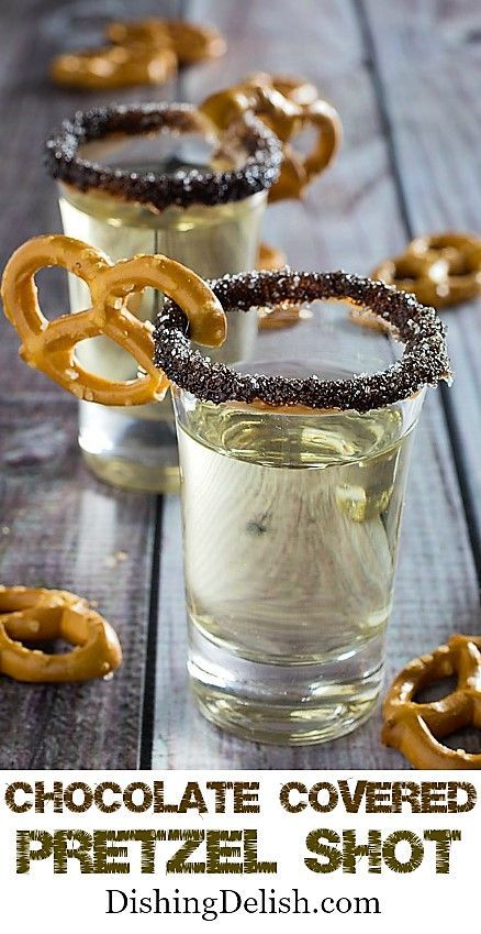 Chocolate Covered Pretzel Shot | Posted By: DebbieNet.com