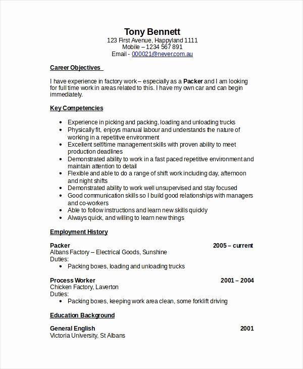 forklift driver sample resume for forklift operator  free