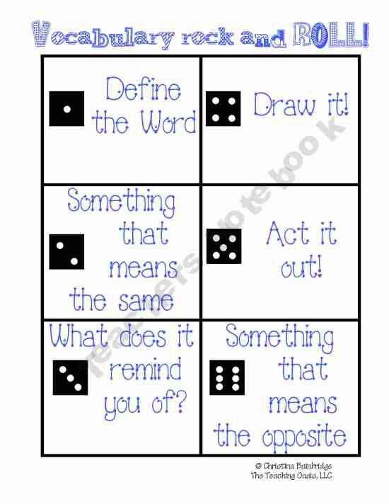Awesome vocabulary activity!