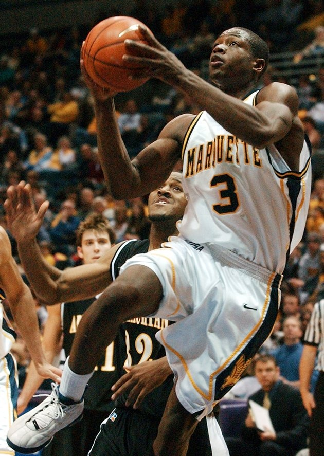 Dwyane Wade, triple double in 2003 for Marquette in Midwest Regional Final