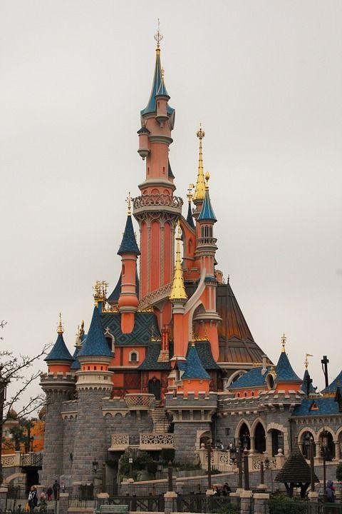 Hrad, Šípková Ruženka, Disneyland, Paris, France