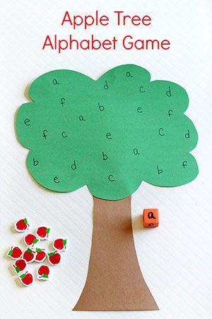 This apple tree alphabet game is a great way to practice letter identification while developing fine motor skills. It is perfect for a preschool apple theme!