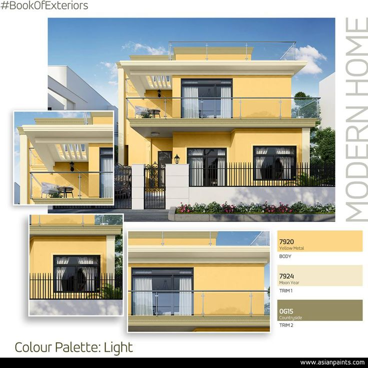 Colour makes a first impression an individual statement and can enhance curb appeal modern