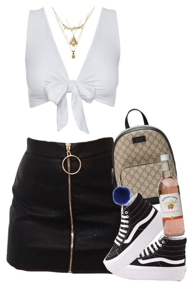 """""""Almost New Years"""" by blacklegends on Polyvore featuring LE VIAN, Sydney Evan, Gucci, Vans and Decree"""
