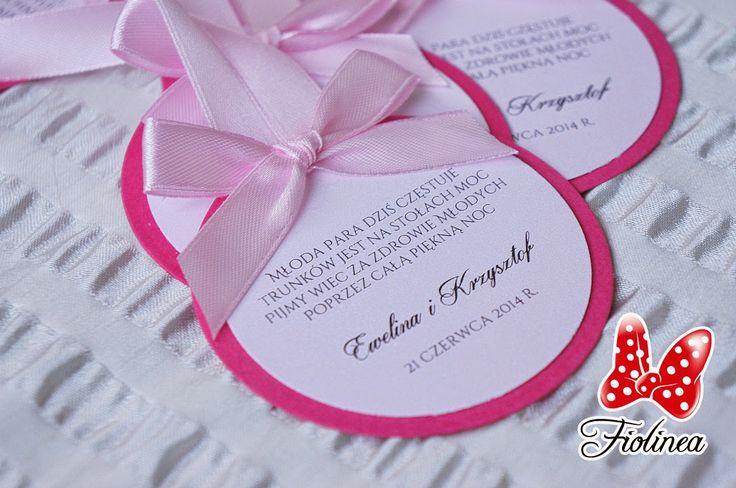 Fiolinea - Ślubna Galanteria Papiernicza: Amarant i róż w Pałacu Krotoszyce