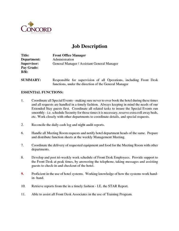 best 25  job description ideas on pinterest