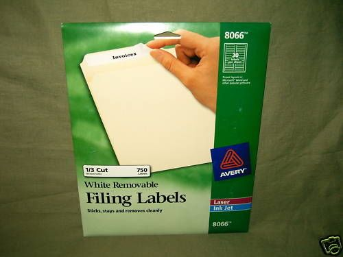 Avery 8066 - White Removable File Folder Labels, New #Avery