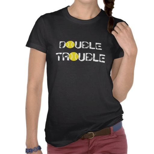 Awesome tennis doubles tshirt. We should so use these at county cup