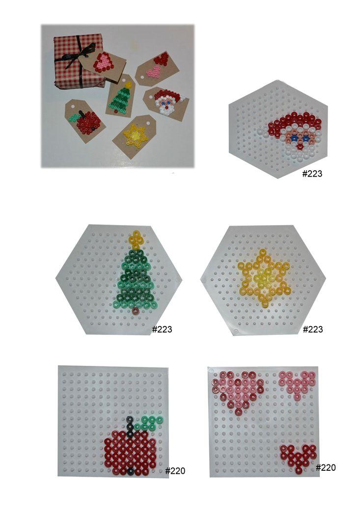 Christmas gift tags hama perler beads - HAMA