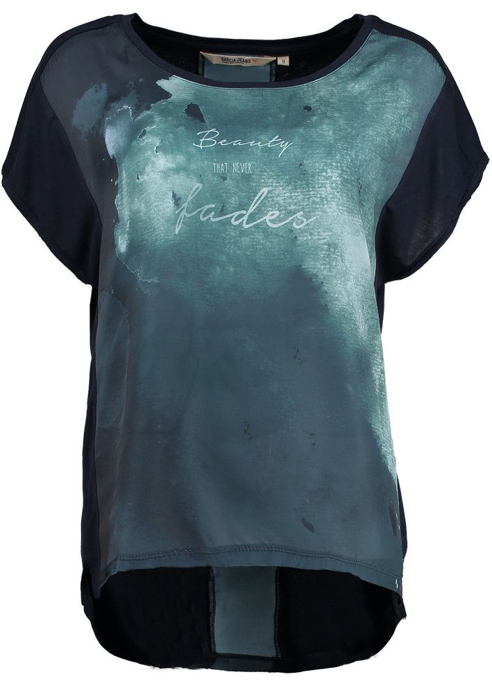 Garcia T-shirt med print L50006 Ladies t-shirt dark moon – acorns