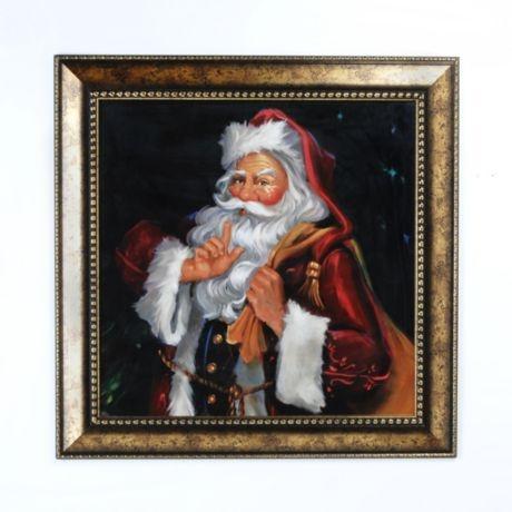 Product Details Shhh Santa Framed Print 27x27 Christmas