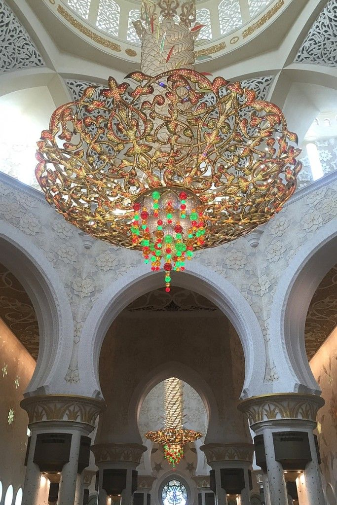 Die große Moschee von Abu Dhabi - absolut sehenswert! -