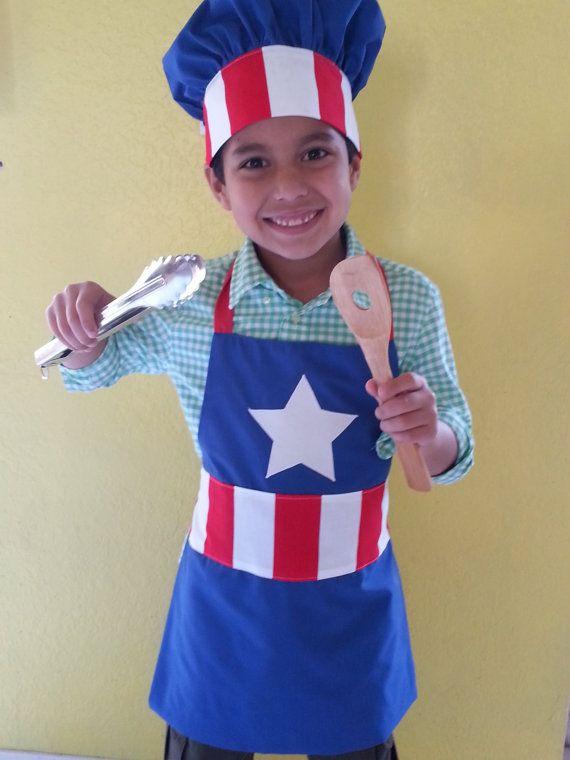 Niños superhéroes delantal y chef combo/delantal y por SMPstore
