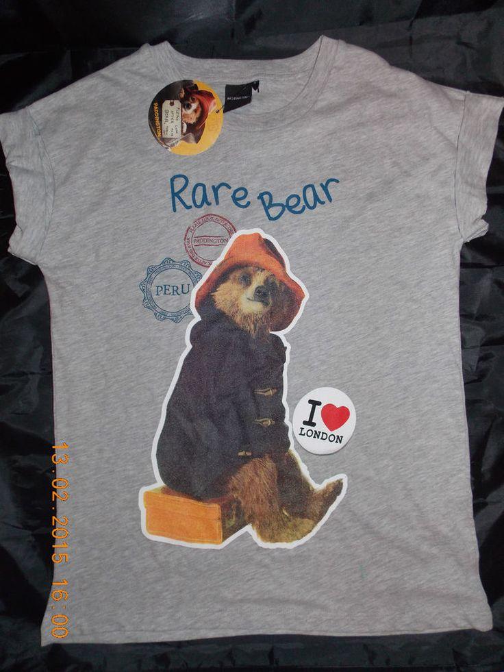 Ladies PADDINGTON BEAR T Shirt Primark Womens Tee Top