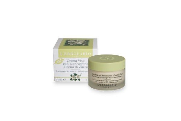Erbolario Crema viso con Biancospino e Semi di Zucca. Su Amazon.it a 17,50€