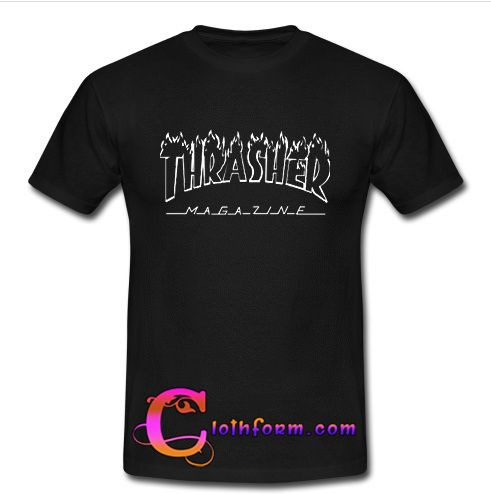 Thrasher Magazine t shirt from clothform.com This t-shirt is Made To Order, one by one printed so we can control the quality.