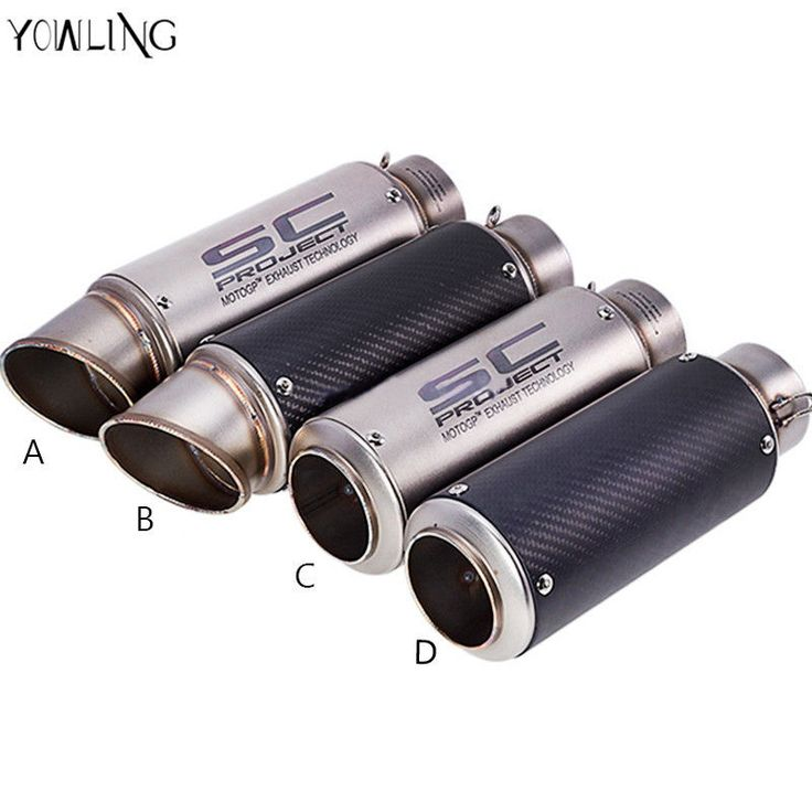 Exhaust Pipe Stainless Steel Motorcycle Muffler Motorbike Laser Project Escape #ExhaustPipe