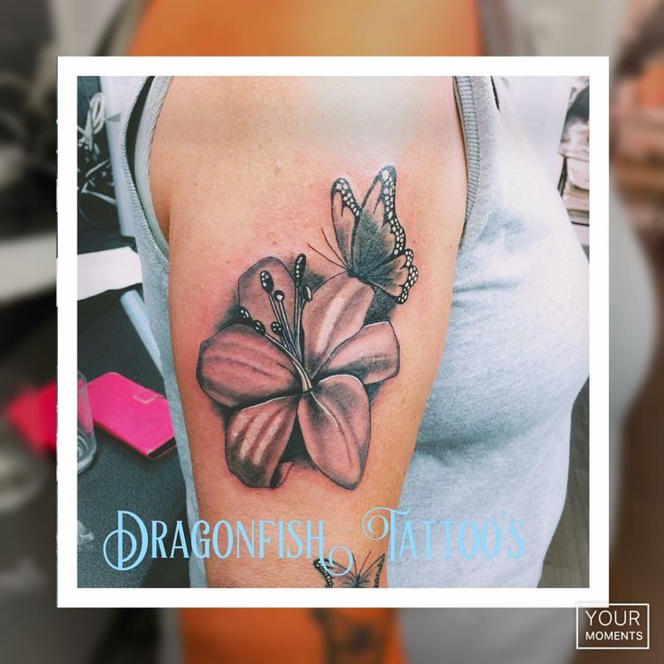 203 best images about dragonfish tattoo 39 s tatoeages on for Dragon lily tattoo