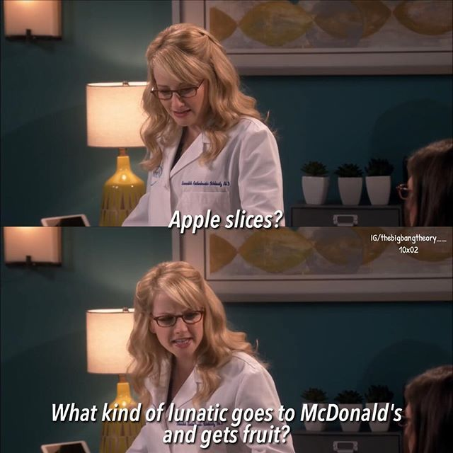 There was this one time i tried macdonald's salad and my friends went all bernadette on me😂 #bigbangtheory